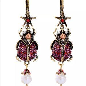 BETSEY JOHNSON~ Scarab Earrings
